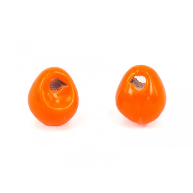 Jig-Off Tungstenperlen - FLUO ORANGE - 10 Stk.